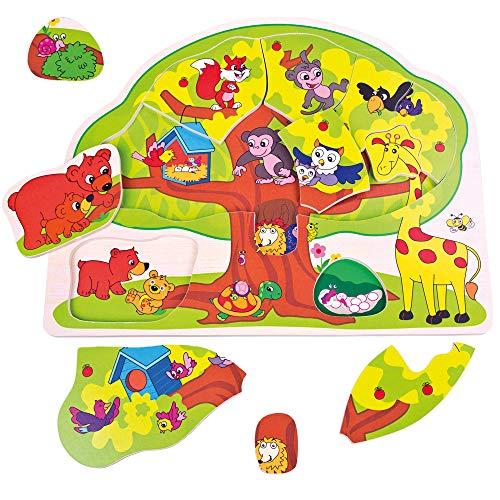 Bino & Mertens- 88119 Bino Puzzle Animales Divertidos, M