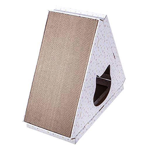 WWWWW Nest voor huisdieren knutselen creatief geperforeerd papier gemonteerd kat scratch board driehoek kat huis Villa Villa Huisdieren Accessoires kat Scratch Board J
