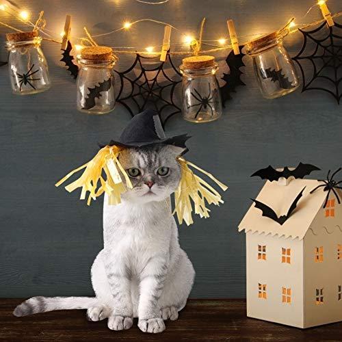 Halloween huisdier hoed - creatief huisdier kat hond halloween vakantie vogelverschrikker hoed aankleden cosplay kostuum