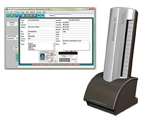 Medical Insurance Card and ID Card Scanner (w/Scan-ID LITE, for Windows)