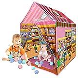 Qaoping Spiel Zelt Kinderzelt Spielhaus Innen- und Außen Jurte Ocean Ball im Freien...