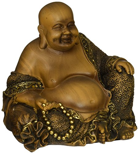 Oriental Furniture 6' Sitting Laughing Buddha Statue