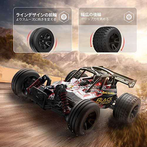 DEERCラジコンカーオフロード4WD高速40km/hこども向けRCカー1/18リモコンカー2.4Ghz無線操作四輪駆動競技可能レーシング40分間走れバッテリー2個付き乗り越え抜群おもちゃ贈り物日本国内認証済み9305E