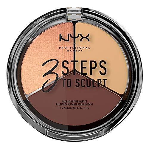NYX PROFESSIONAL MAKEUP 3 Steps to Sculpt, Face Sculpting Contour Palette - Medium