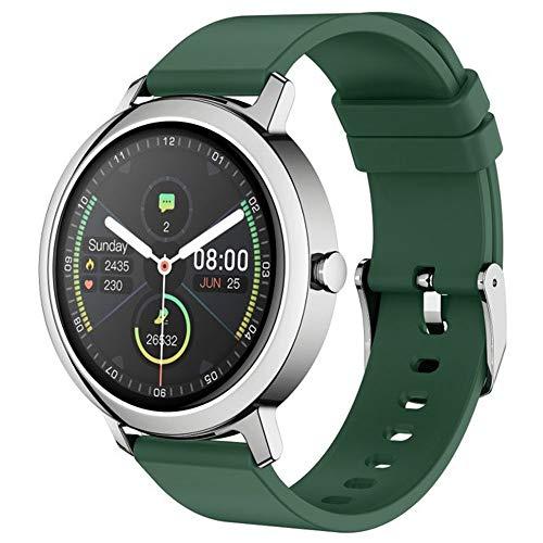 Multi-Sport-Modus, Smartwatch, Fitness-Tracker, Schlafüberwachung, IP67, wasserdicht, Smartwatches für Android iOS (Farbe: Silbergrün)