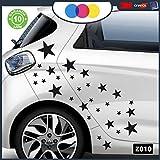 Just Go Online S.l.u.. Autocollants pour Voiture–étoiles–étoiles–Voiture Machine PC Notebook–Nouveauté. Auto Moto, Stickers, Van Camper Decal Noir