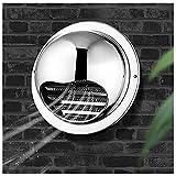 LXLTL Edelstahl Zuluft Und Abluft Gitter, Lüftungsgitter Rund Für Ablufthaube/Belüftungen, für alle Wandbelüftungsöffnungen,150mm