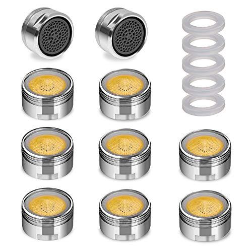 Nirox 10x Aeratore per Rubinetto - Perlator Rompigetto con filettatura esterna M24x1-6L/M Limitatore di flusso a risparmio idrico - Diffusore rubinetto per bagno e cucina