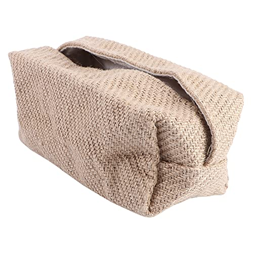 Cabilock Caja de almacenamiento de 1 pieza exquisita tela artesanal caja de almacenamiento escritorio caja dispensador de pañuelos