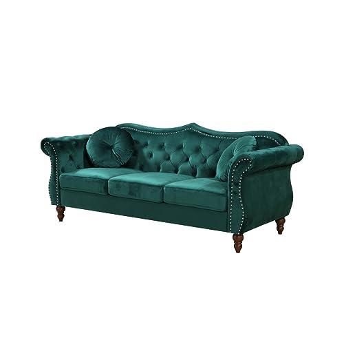 Velvet Chesterfield Sofa: Amazon.com