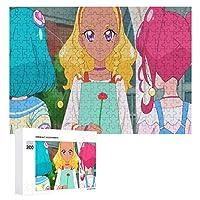 トゥインクルプリキュア大人と子供の魔法のパズルおもちゃファッション装飾人気のアニメーションかわいい製品木製パズルチャレンジ家族ゲーム300個