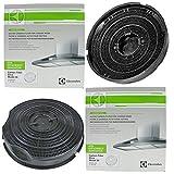 AEG Original 502502D C502D Typ 30anthrazit Carbon Dunstabzugshaube Vent Filter (2Stück Filter, 240mm x 46mm)