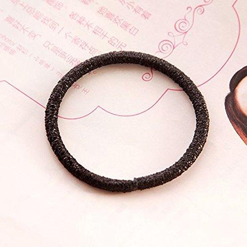 WEIAIXX De Ring van Kleine Verse Lederen Bands Tie Twine Friezes Hoofd Touw Minimalist, Rubber Band Haar Ornamenten en Touw 5 Zwart