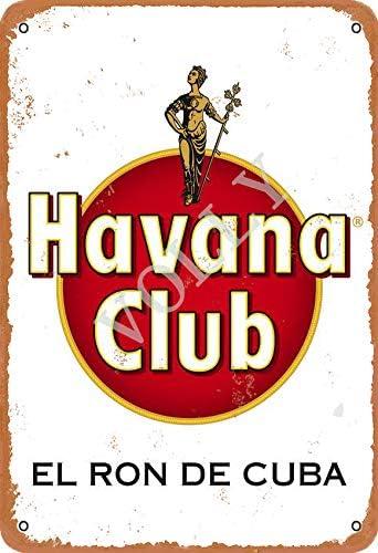 Volly Havana Club Retro previene el deslumbramiento clásico elegante diversión arte moda metal decoración de la pared cartel de chapa adecuado para ...