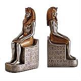 WGLG - Adornos modernos de interior 2 piezas/Set antiguo Egipto Rey Faraone sujetalibros estatua oficios de resina retro figura libro escultura fina decoración escritorio de casa