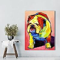 壁の芸術の絵のプリント動物の犬の子犬レトリーバーブルドッグチワワの居間の家の装飾のためのオイルプリント 20x30inch