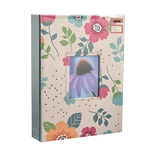 ARPAN Fashion Design 200-Album Fotografico per Foto 13 x 18 cm, con Finestra, Fiore Crema, 21.5 x 4 x 28.5 cm