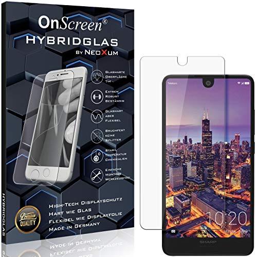 OnScreen Schutzfolie Panzerglas kompatibel mit Sharp Aquos C10 Panzer-Glas-Folie = biegsames HYBRIDGLAS, Bildschirmschutzfolie, splitterfrei, MATT, Anti-Reflex - entspiegelnd