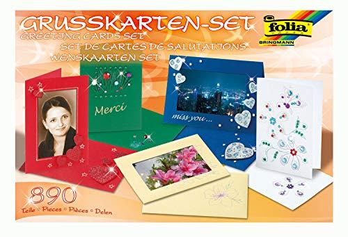 BRINGMANN MAX KG Folia 10020 – Ensemble de Cartes de vœux, 890 pcs, mélange de matériaux (Cartes, Paillettes...)