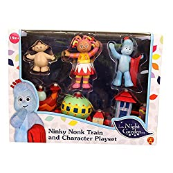 Includes the iconic Ninky Nonk train with connecting carriages as well as all your favourite In t... Encourages imagination through pretend play. The Ninky Nonk Train has connecting carriages. Suitability 18 Months +. Batteries not required.