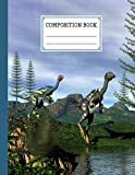 """Composition Notebook: Caudipteryx Dinosaurs Cover Composition Notebook, Wide Ruled Paper Notebook Journal, Wide Blank Lined Workbook, 120 Pages, Size 8.5"""" x 11"""" By Janet Behrens"""