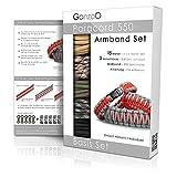 Set di braccialetti Paracord 550, 5 corde da 3m, 5 chiusure a scatto in plastica
