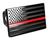 USA American Flag Metal Trailer Hitch Cover (Fits 2