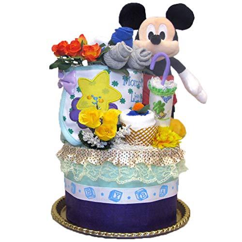 出産祝い デイズニー ミッキー おむつケーキ 男の子 女の子 パンパース ベビー 人気 カーターズ disney baby DK2022-S (ミッキーマウス)