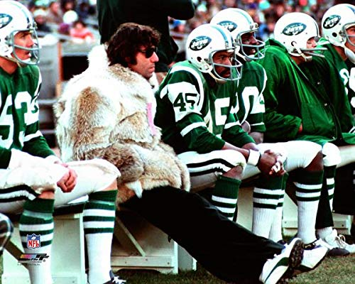 New York Jets Joe Namath In His Fur Coat on The Sidelines 8x10 Photo Picture. fur
