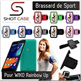 Shot Case Sports Armband with Wiko Rainbow Up and Case Red