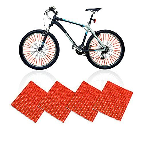 Thimmamma Juego de 48 reflectores para radios de bicicleta, 360 °, reflectores para radios de bicicleta, color rojo, para niños y adultos, bicicleta de montaña