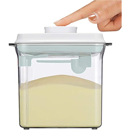 Obst und Lebensmitteln 1000ML Luftdichte Milchpulver Spender,Milchpulver Aufbewahrung,Milchpulver Spender Portable mit L/öffel zur Aufbewahrung von Baby Milchpulver