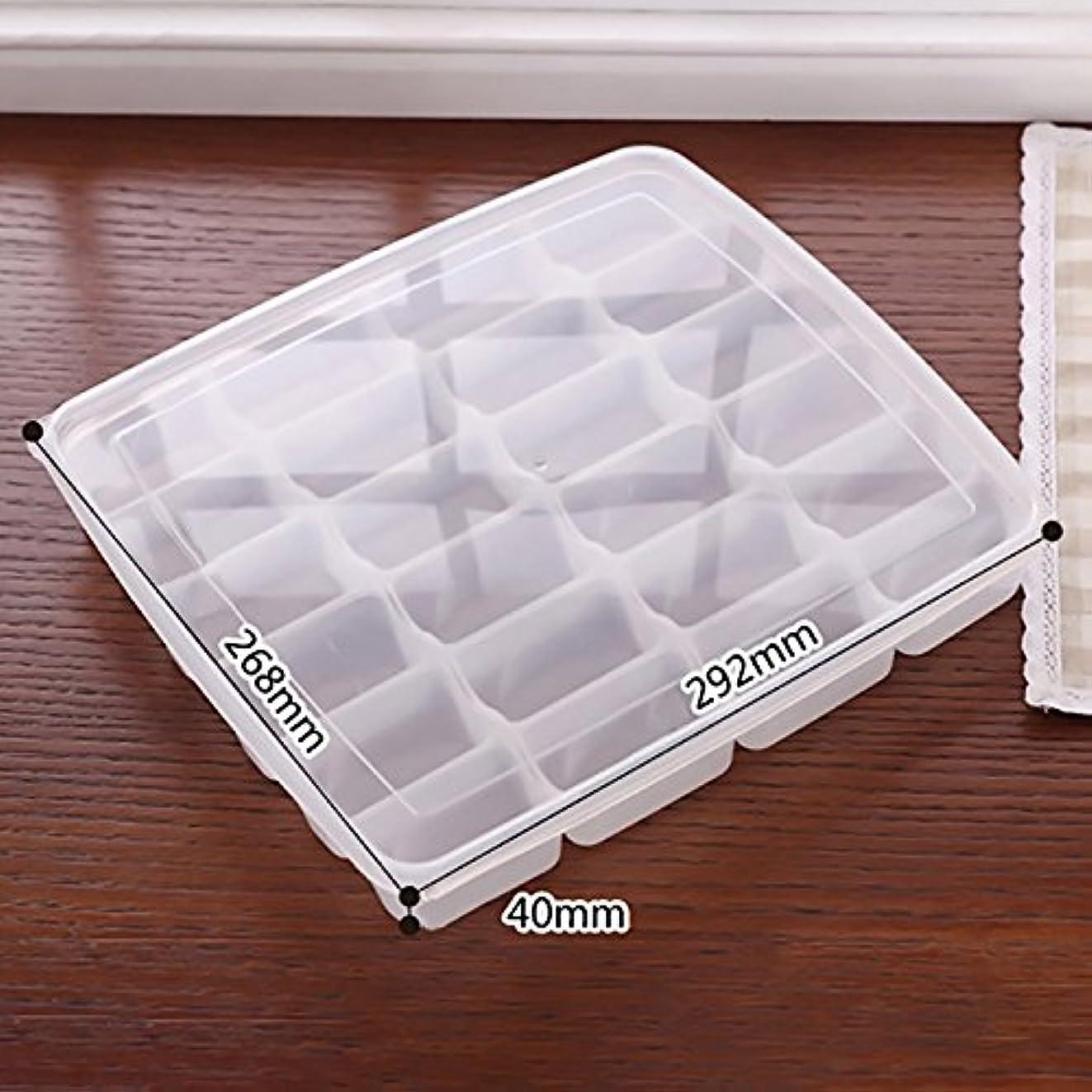 地域実現可能性晴れQIN 餃子の収納ボックス ギョーザケース 冷蔵ボックス キッチン収納 蓋付きホルダー ギョウザ 24個入れ 保存容器 家庭 業務用