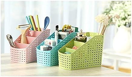 Dewberries® Pack of 3 Multi-Purpose Desk Organizer PP Plastic Desktop Storage Box Case Pen Pencil Holder Plastic Cosmetics Make Up Organizer Container