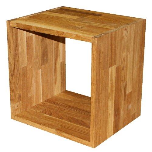 Regalwürfel Flexicube, Eiche Massivholz geölt, Grundmodul, beliebig erweiterbar zum Bücherregal, Würfelregal, Raumteiler, echtes Holz