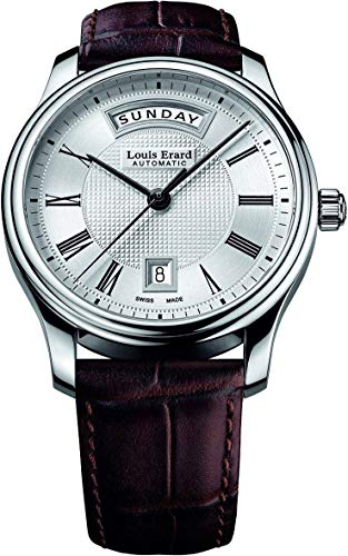 Louis Erard Men's 40mm Automatic Brown Calfskin Date Watch 67258AA21.BDC21