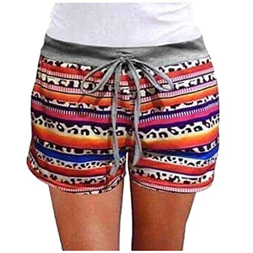 Sale!! Toimothcn Women Sports Shorts Gym Workout Waistband Skinny Shorts Pants Sweatpants(1-Red,Smal...