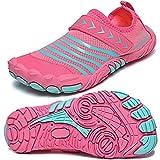 Quickshark Kids Water Shoes Boys Girls Barefoot Aqua Socks Lightweight Quick Dry Sandals Slip On Walking Sneakers for Beach Pool Swim 1-Pink 4.5 Big Kid