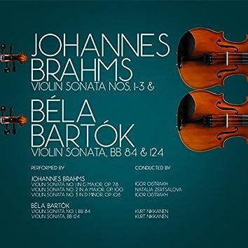 Johannes Brahms: Violin Sonata Nos. 1-3 & Béla Bartók Violin Sonata, Bb 84 & 124
