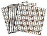Infactory Lámina de Azulejos: Pegatinas Autoadhesivas para Azulejos de Mosaico 3D Bronce ...