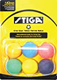 STIGA 1-Star Assorted Multicolor Recreational-Quality Regulation Size 40mm Table Tennis Balls (6 Pack)