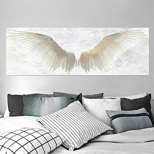 DIY 5D Pintura Diamante Kits Taladro Completo Alas de angel blanco 50x100cm...