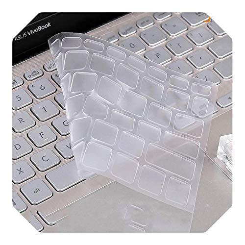 Funda para teclado ASUS VivoBook 15 X512FB X512FL X512FJ X512DK X512UF X512UA X512FA X512da X512UB X512 de 15,6 pulgadas, transparente