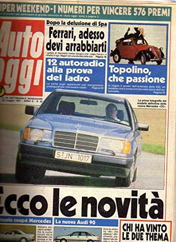 Auto Oggi n. 25 del Maggio 1987 Audi 90, POSTER Fiat 500 A Topolino