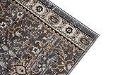 Läufer Teppich Flur in Grau - Orientalisch Klassischer Muster - Brücke Läuferteppich nach Maß - 80 cm Breit - AYLA Kollektion von Carpeto - 80 x 500 cm - 3
