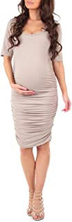 fitted midi maternity dress