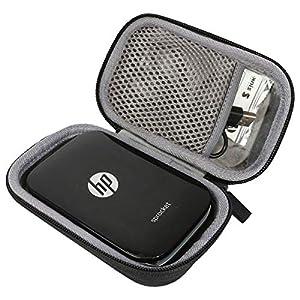 co2CREA Duro Viajar caja estuche funda para HP Sprocket Impresora fotográfica portátil(caja solo)(negro))