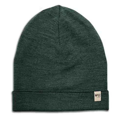 Minus33 Merino Wool Ridge Cuff Wool Beanie Forest Green One Size