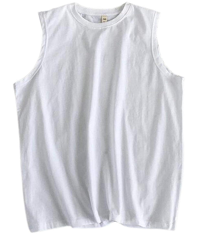 Keaac メンズタンクトップ夏ノースリーブジムトレーニングフィットネスシャツ