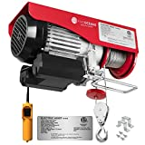 Five Oceans 1320 LB Electric Overhead Hoist Lift Crane Ceiling Garage Pulley Winch with Zinc-Plated Steel Wire and 20 FT Remote Control, Unique in The Market, FO-4338